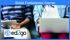 Online Fundamentals Courses: People seated with laptop.