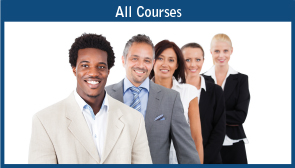 All Courses: List of professionals standing in a row.