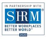 SHRM Partnership Logo: Better Workplaces Better World. 2020