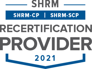 SHRM Recertification Provider CP-SCP Seal 2021